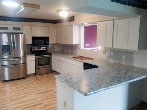 Granite Kitchen Countertops prior to backsplash installation